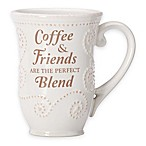 "Lenox® French Perle ""Coffee & Friends Are The Perfect Blend""  Mug in White"
