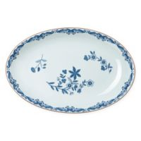 Rörstrand Ostindia 13.6-Inch Porcelain Oval Serving Dish in White/Blue