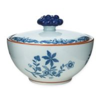 Rörstrand Ostindia Porcelain Sugar Bowl with Lid in White/Blue