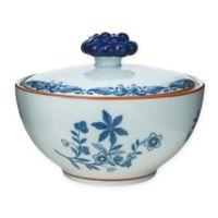 Rörstrand Ostindia Porcelain Sugar Bowl with Lid in White/Blue