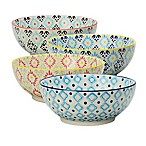 Signature Housewares Printed 8-Inch Microwave Storage Bowls (Set of 4)