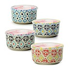 Signature Housewares Printed 5-Inch Microwave Storage Bowls (Set of 4)
