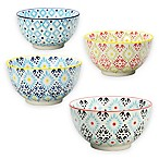 Signature Housewares Printed 5-Inch Utility Bowls (Set of 4)