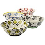 Signature Housewares Print 10 8-Inch Serve Bowls (Set of 4)