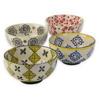 Signature Housewares Print 10 6-Inch Utility Bowls (Set of 4)