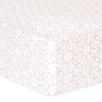 Trend Lab® Circles Flannel Fitted Crib Sheet in Pink