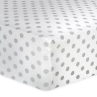Trend Lab® Dot Flannel Fitted Crib Sheet in Gray