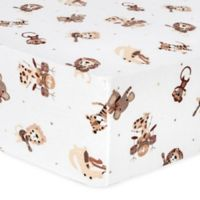 Trend Lab® Safari Rock Band Flannel Fitted Crib Sheet