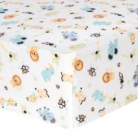 Trend Lab® Jungle Friends Flannel Fitted Crib Sheet