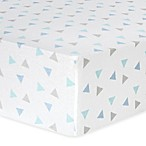 Trend Lab® Triangle Flannel Fitted Crib Sheet in Mint