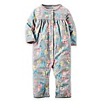 carter's® Newborn Floral Fleece Coverall in Grey/Multicolor