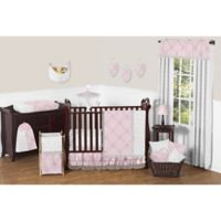 Sweet Jojo Designs Alexa 11-Piece Crib Bedding Set in Pink/Grey