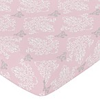 Sweet Jojo Designs Alexa Damask Fitted Crib Sheet in Pink/Grey