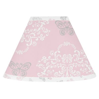 Buy pink lamp shades from bed bath beyond sweet jojo designs alexa lamp shade in pinkgrey aloadofball Images