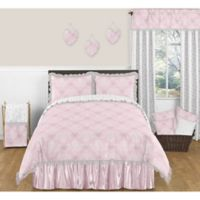 Sweet Jojo Designs Alexa Full/Queen Comforter Set in Pink/White
