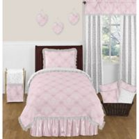 Sweet Jojo Designs Alexa Twin Comforter Set in Pink/White