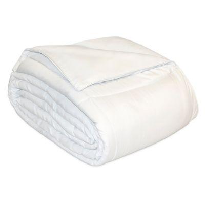 Microfiber Natural Fill Twin Comforter in White