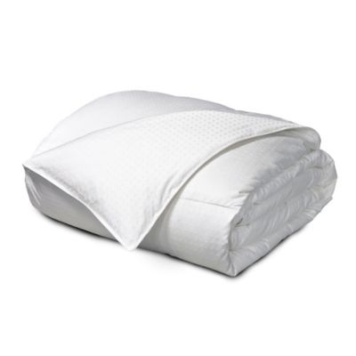 Feather and Down Reversible Twin Comforter in White