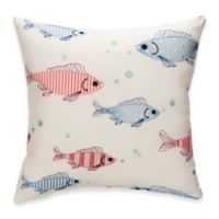 Glenna Jean Fish Tales Embroidered Throw Pillow