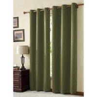 VCNY McKenzie Juvi 84-Inch Room-Darkening Grommet Top Window Curtain Panel in Moss