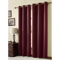VCNY McKenzie Juvi 108-Inch Room-Darkening Grommet Top Window Curtain Panel in Burgundy