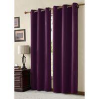 VCNY McKenzie Juvi 84-Inch Room-Darkening Grommet Top Window Curtain Panel in Eggplant
