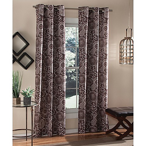 M Style Batik 84 Inch Grommet Top Window Curtain Panel