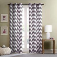 Intelligent Design Libra 84-Inch Grommet Top Window Curtain Panel Pair in Grey