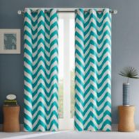 Intelligent Design Libra 84-Inch Room-Darkening Grommet Top Window Curtain Panel Pair in Teal