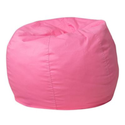 Flash Furniture Small Solid Bean Bag Chair In Light Pink
