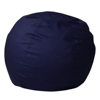 Flash Furniture Small Solid Bean Bag Chair In Navy