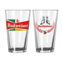 Budweiser Retro Craft Pint Glasses (Set of 2)