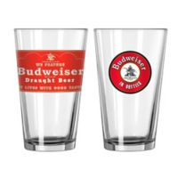 Budweiser Retro Red Label Craft Pint Glasses (Set of 2)