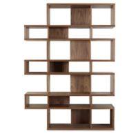 Tema Furniture Inc. London Composition Bookshelf in Walnut/Black