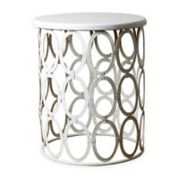 Abbyson Living® Coronado Round End Table in White