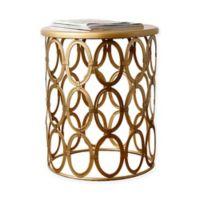 Abbyson Living® Coronado Round End Table in Gold