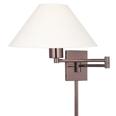 george kovacs boring 1light swing arm wall lamp with chocolate chrome finish