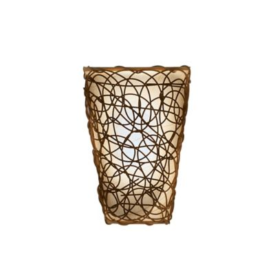 Wall Sconces Bed Bath And Beyond : Wicker Wall Sconce in Tan/Brown - Bed Bath & Beyond