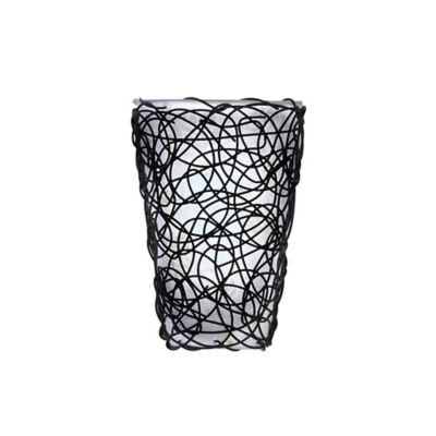 Wall Sconces Bed Bath And Beyond : White Shade and Black Wicker Amber Flicker Wall Sconce - Bed Bath & Beyond