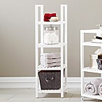 Bristol 4-Tier Birch Wood Linen Tower in White