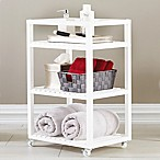 Bristol 3-Tier Birch Wood Rolling Cart in White