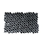Burst of Bubbles Bath Mat in Black