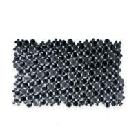 Burst of Bubbles Bath Mat in Black