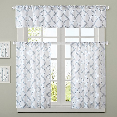 jla anthony window treatments in blue bed bath amp beyond 85727