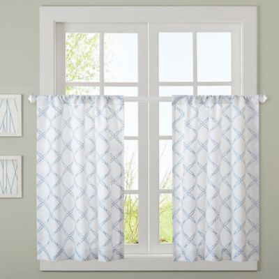 JLA Anthony 64 Inch Window Curtain Panel Pair In Blue
