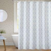 JLA Bath Anthony 72-Inch x 72-Inch Shower Curtain in Blue