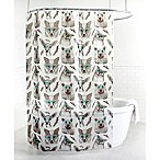 Splash Home Woodland PEVA Shower Curtain in Aqua