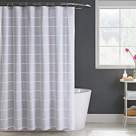Gavin Shower Curtain In Grey Bed Bath Amp Beyond