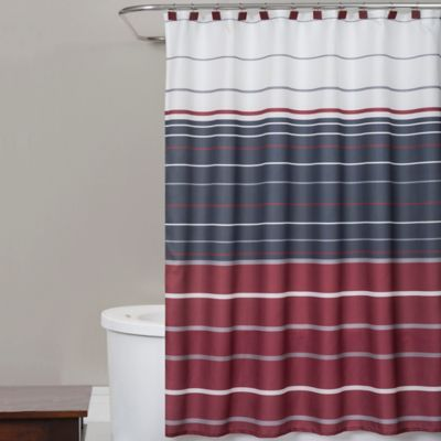 Evan Stripe Shower Curtain in RedBuy Red Shower Curtain Sets from Bed Bath   Beyond. Red And Blue Shower Curtain. Home Design Ideas