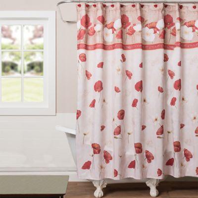 Nice Saturday Knight Poppy Field Shower Curtain